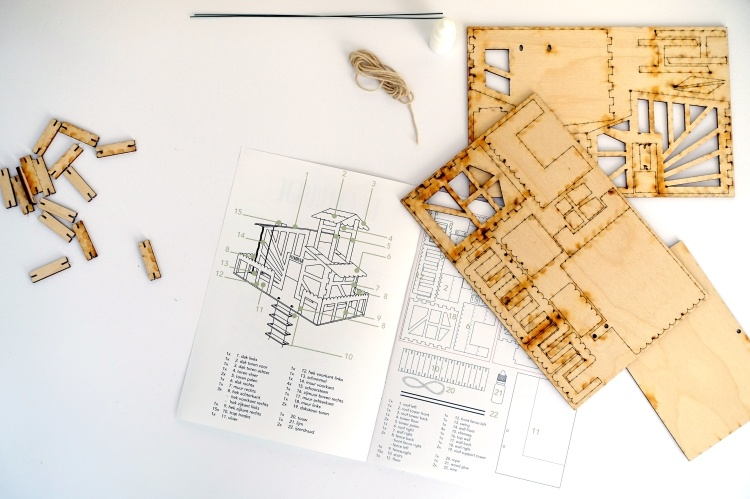 diy, kit, bouwpakket, hout, kamerplant, monstera deliciosa, handleiding, uitleg